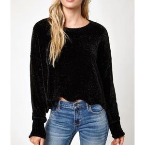 Black Cynthia Rowley Chenille Sweater